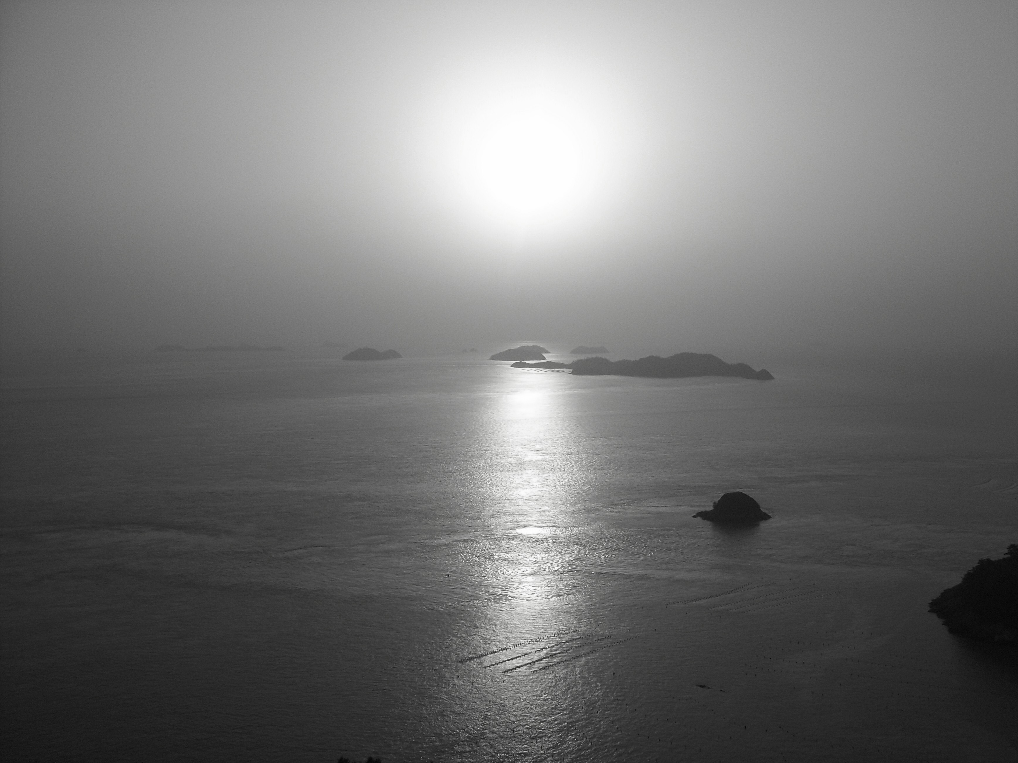 black and white of sunset from Ttankkeut tower | Fun with Kimchi